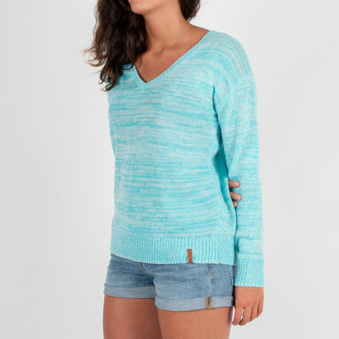 Rathrevor Knitted Sweater - Maui Blue