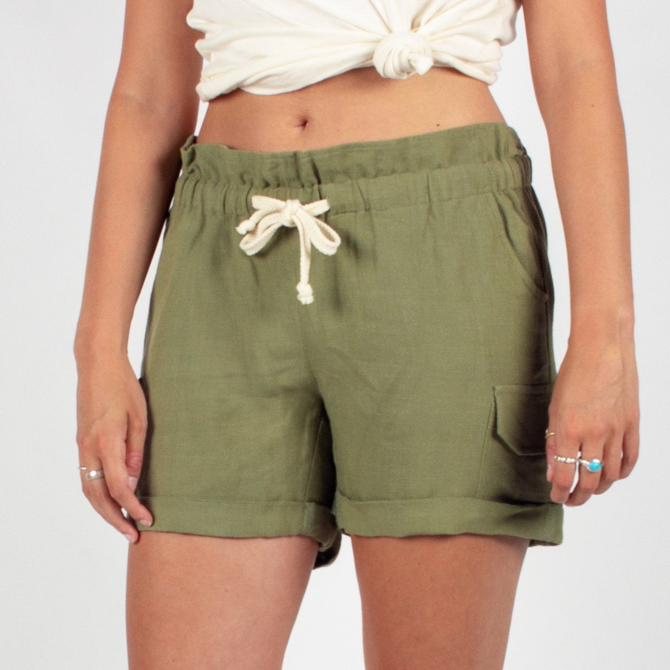 Searcher Shorts - Green image 2