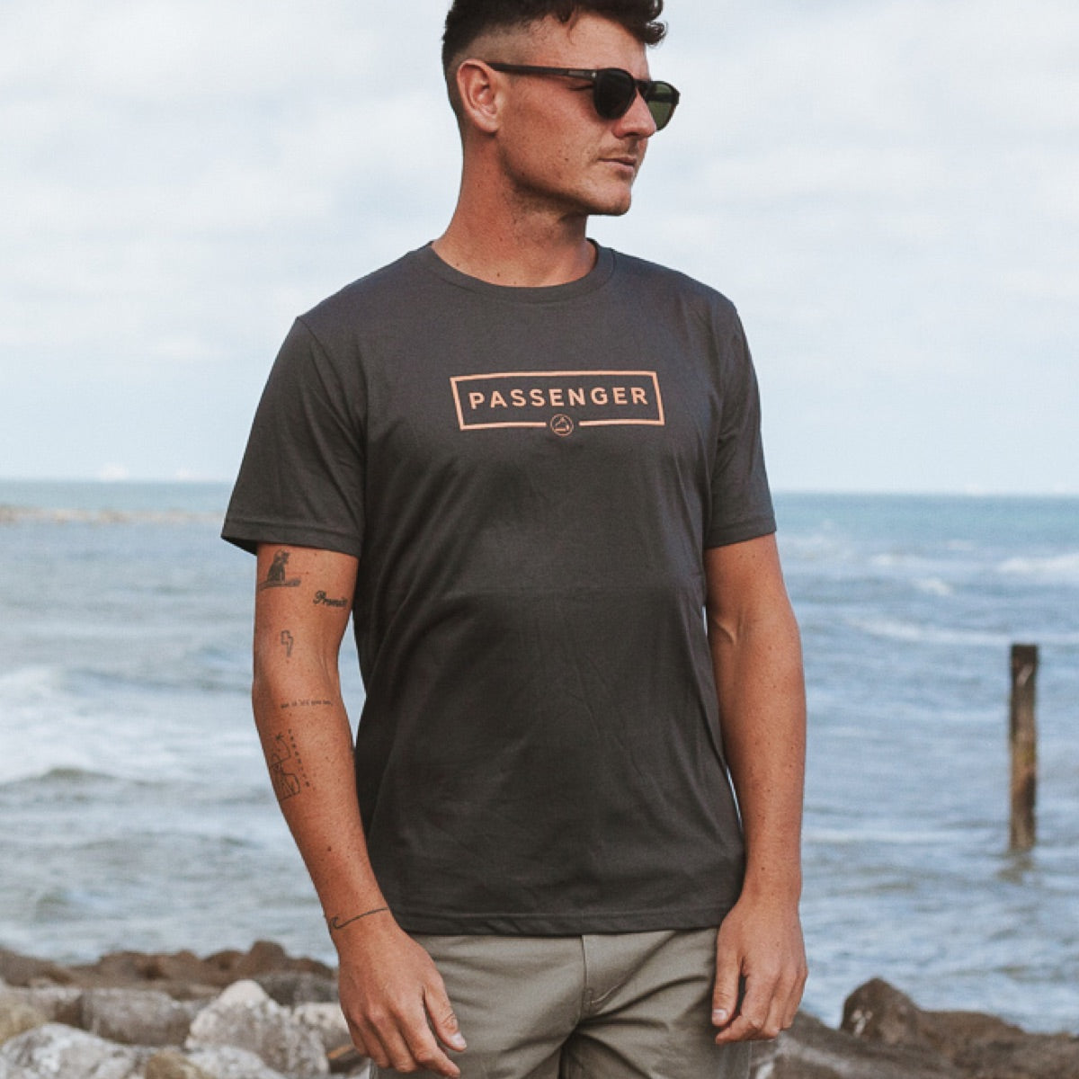 Single Fin T-Shirt - Charcoal image 1