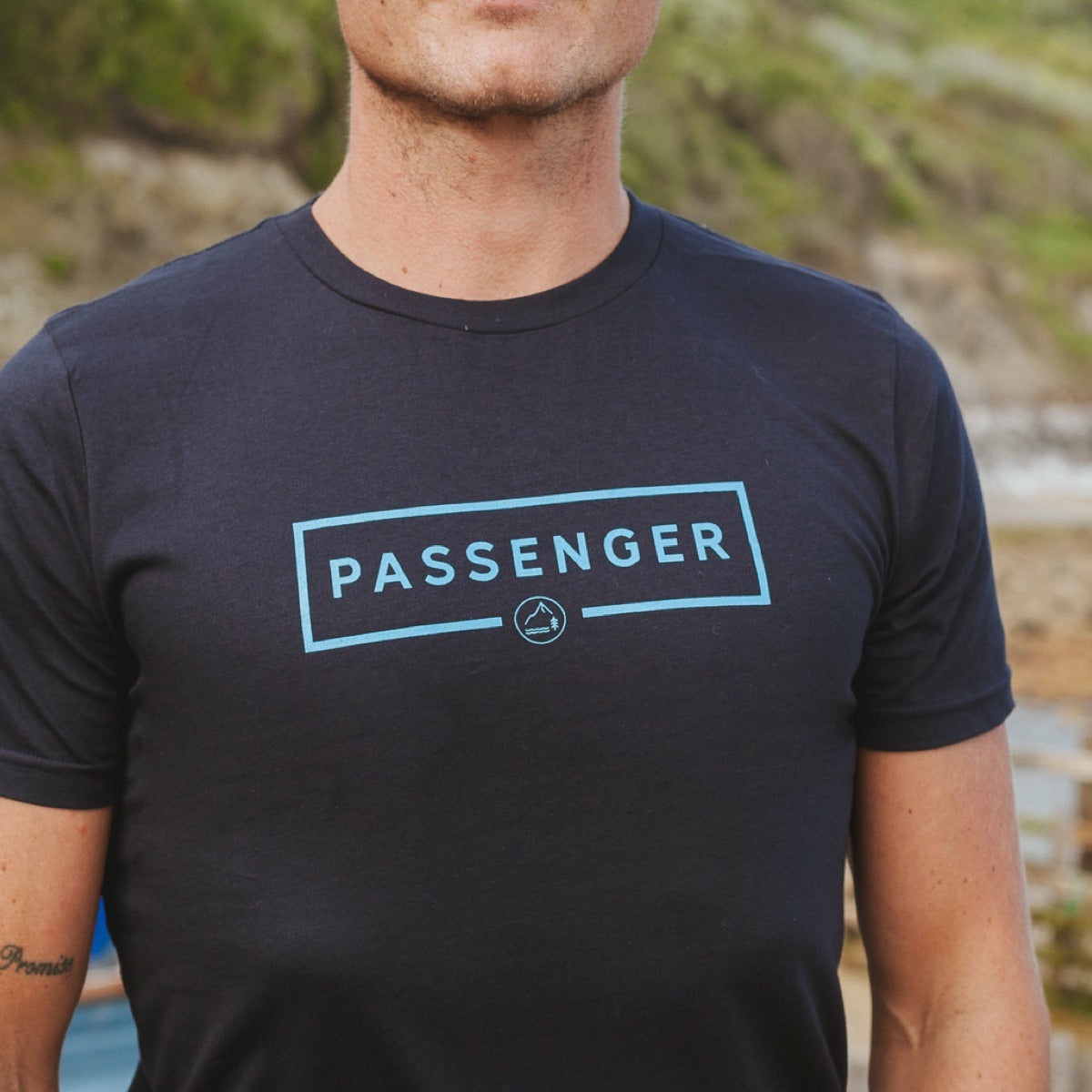 Single Fin T-Shirt - Navy image 4