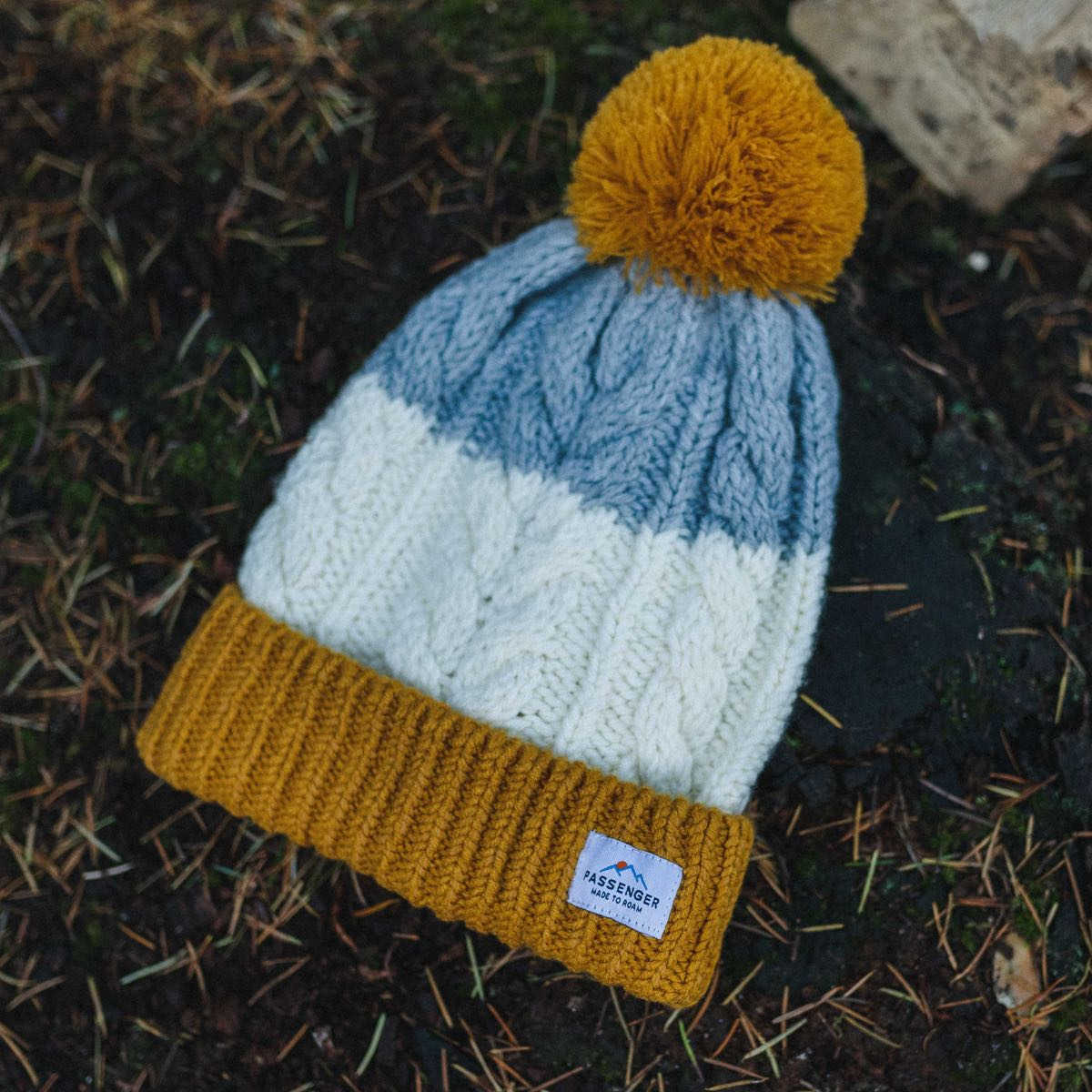Stoke Bobble Hat - Orange, Grey Marl, Off White, Mustard Yellow image