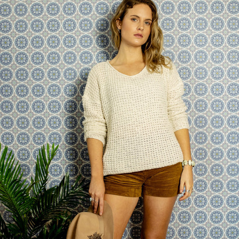 STORY KNITTED SWEATER - CREAM