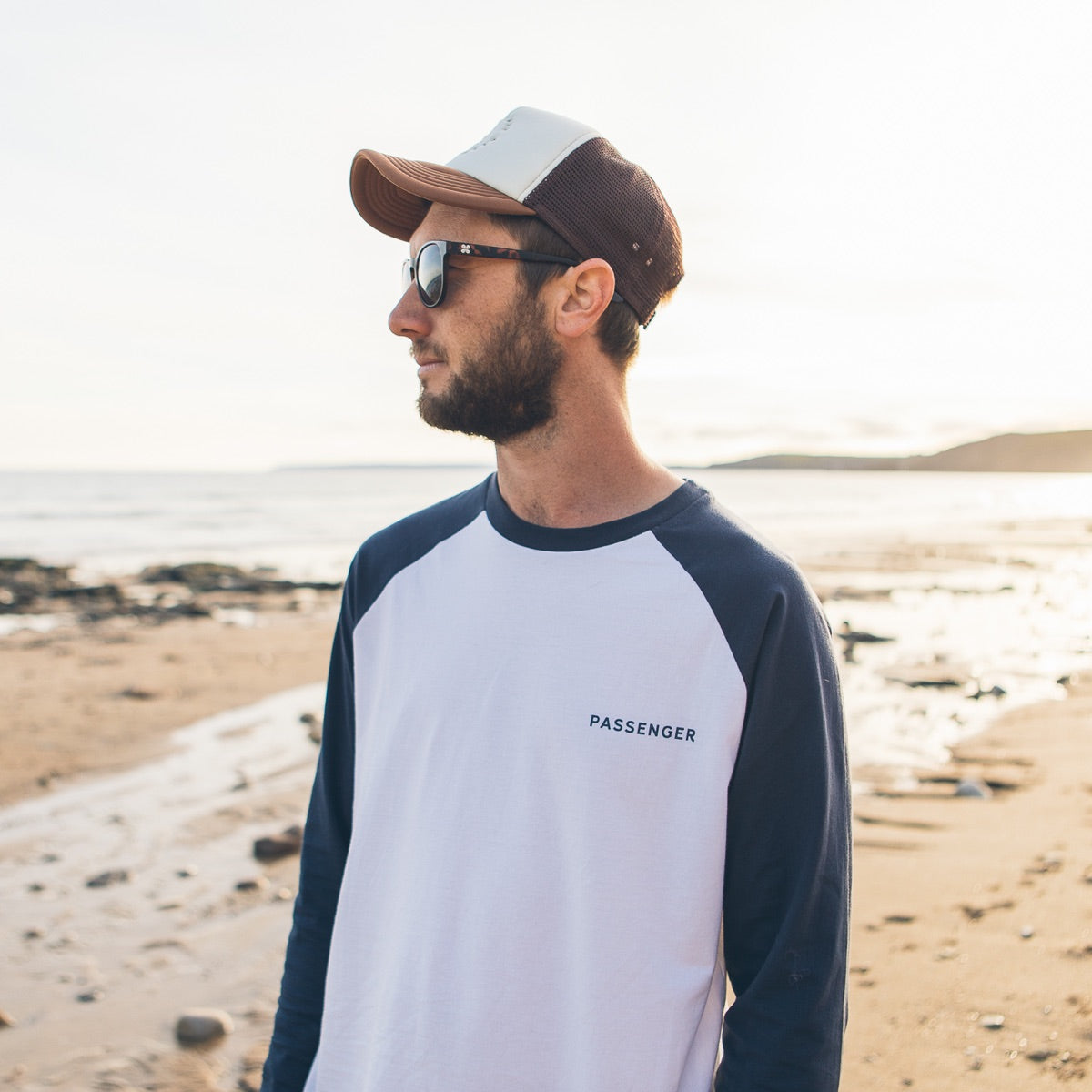 Time Slows L/S T-Shirt - White/Navy image 2