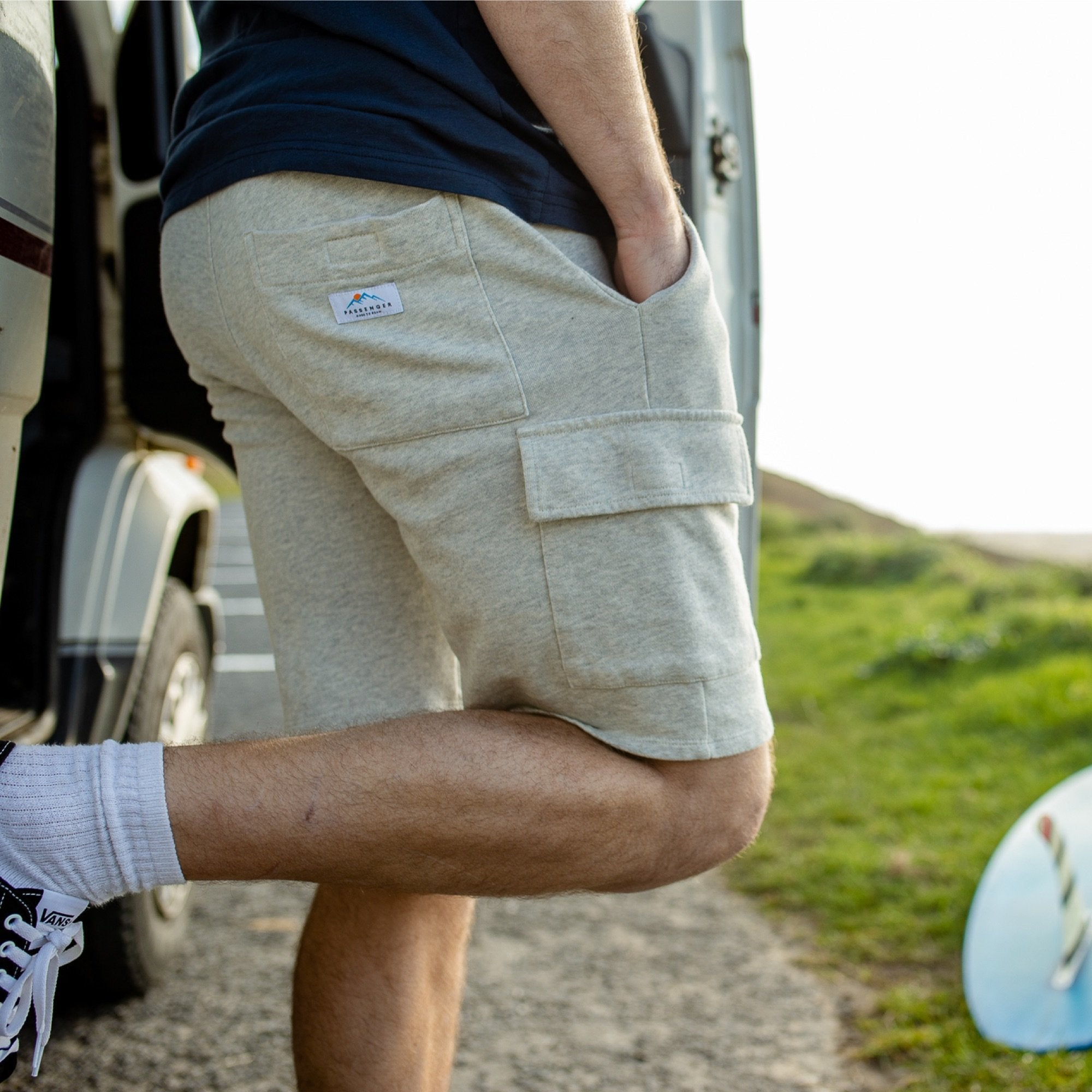 Tourer Jog Shorts - Grey Marl image 1