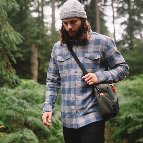 Vacant Flannel Shirt - Dark Grey/Blue
