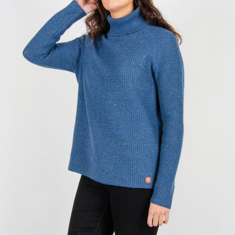 Cachuma Knitted Sweater - Blue