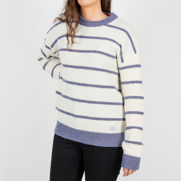 Mull Knitted Sweater - Off White/Blue