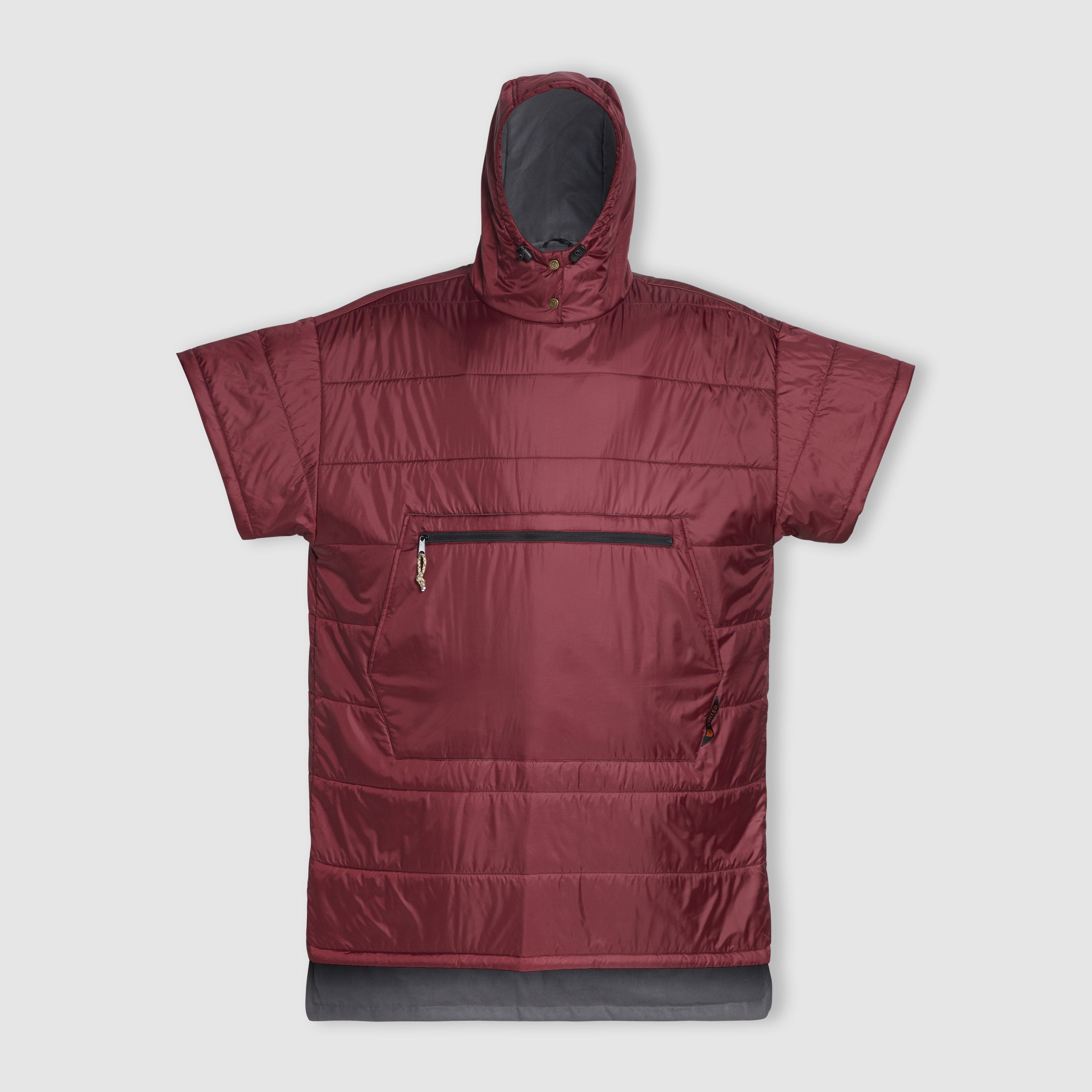Voited Insulated Outdoor Poncho - Oxblood image 2