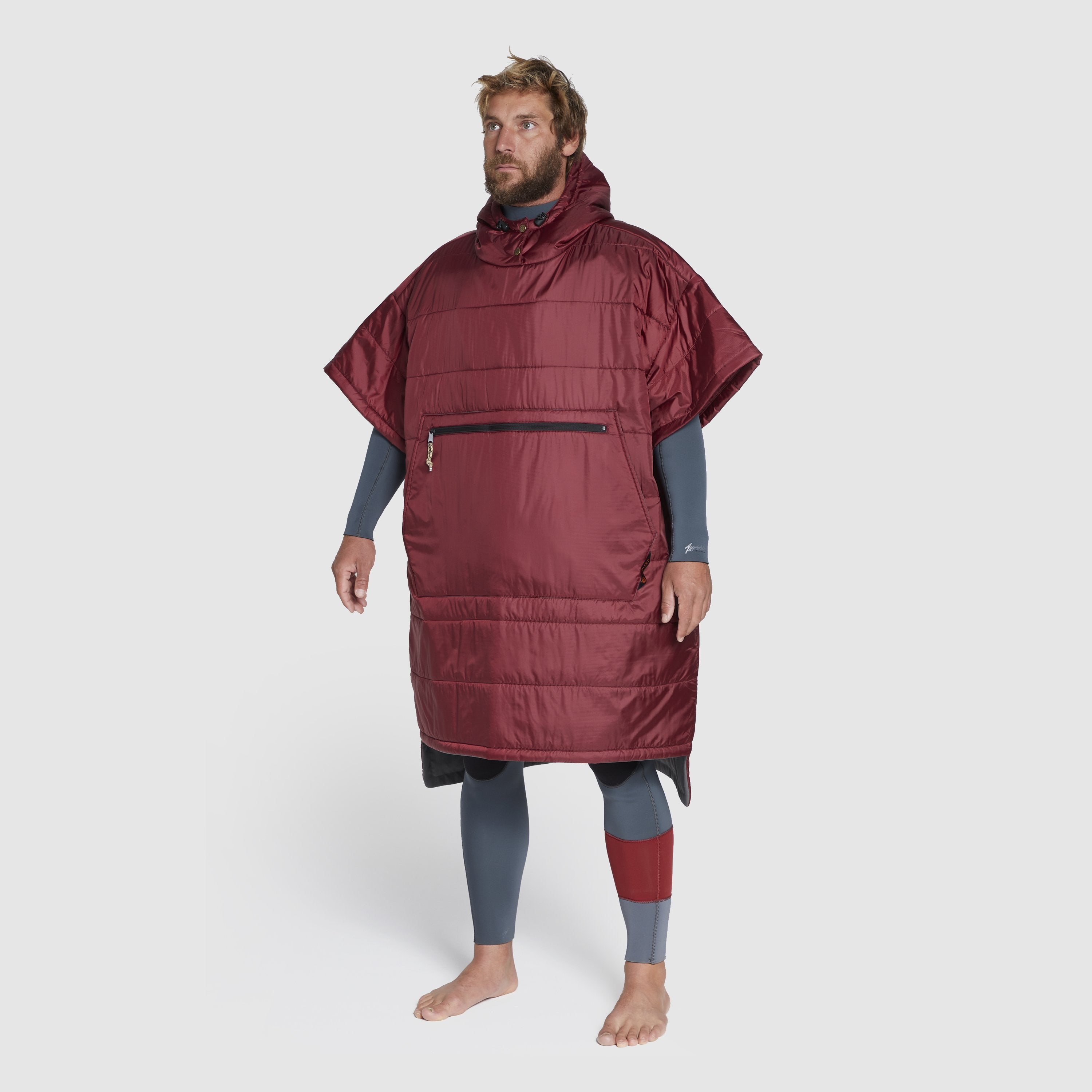 Voited Insulated Outdoor Poncho - Oxblood image 1