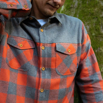 Deep South Shirt - Orange/ Grey Marl