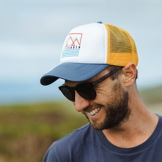 Sambar Cap - White/Yellow/Teal
