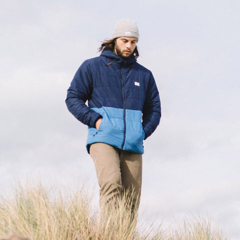 Patrol Insulated Jacket - Navy/Deep Water Blue