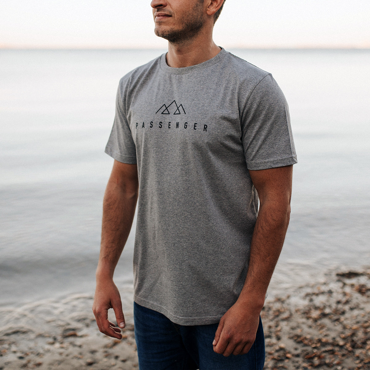 Offset T-Shirt - Grey Marl image 1