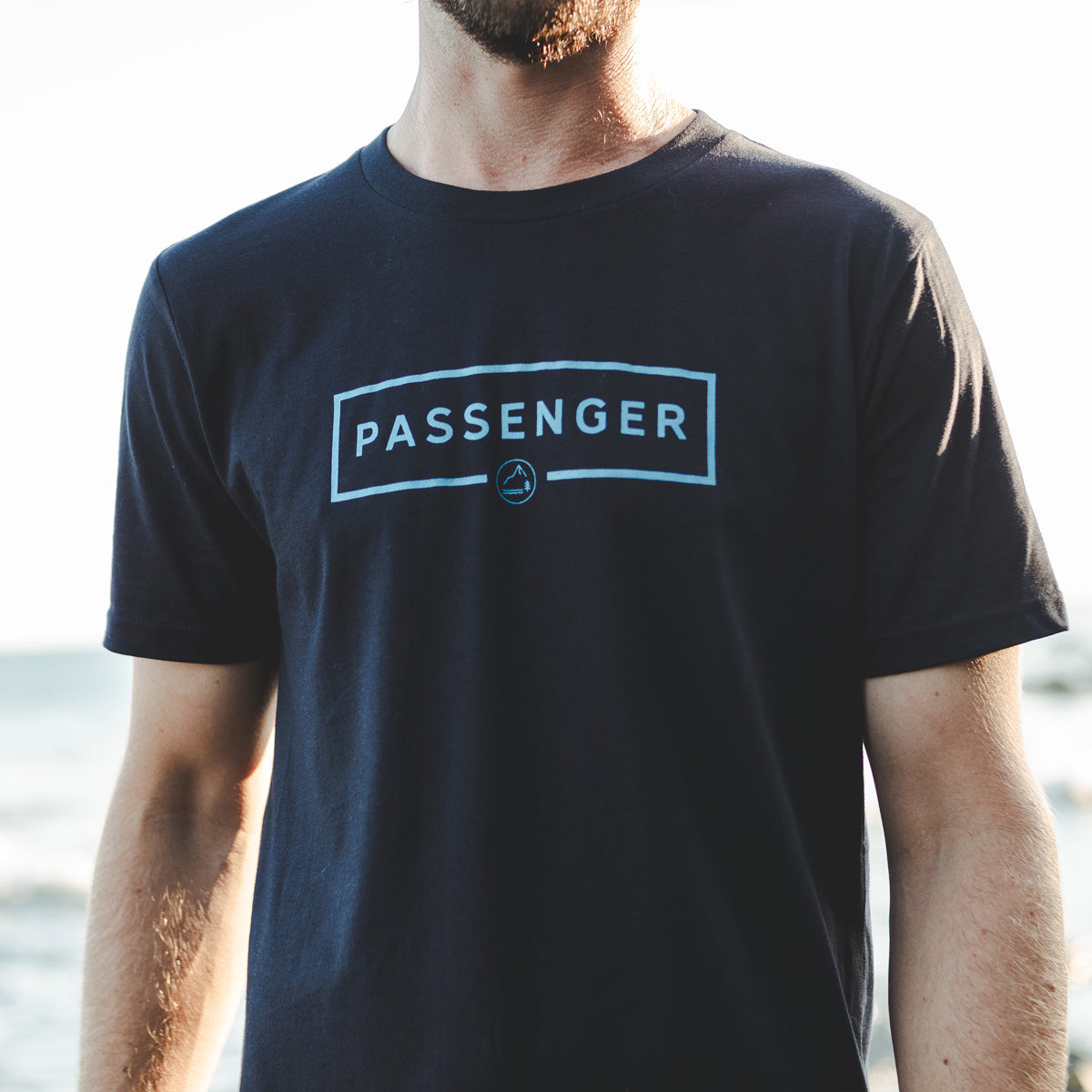 Single Fin T-Shirt - Navy image 1