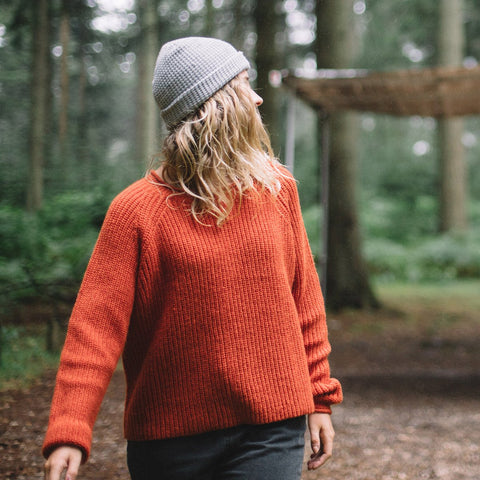 Skye Knitted Sweater - Cinnamon