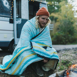 Nomadics 2 Person Sherpa Blanket - Turquoise