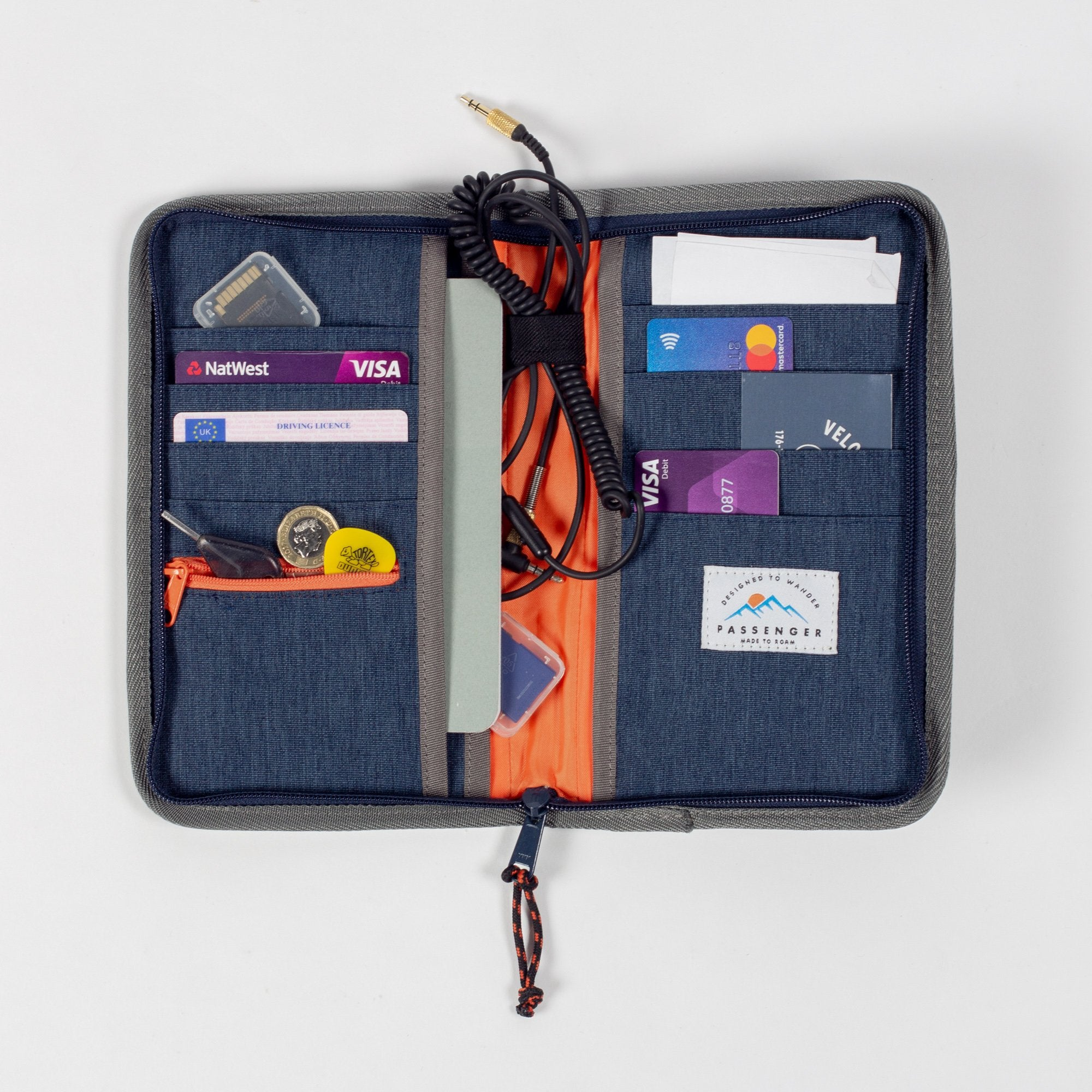 Raccoon Travel Organiser - Navy Marl image 1