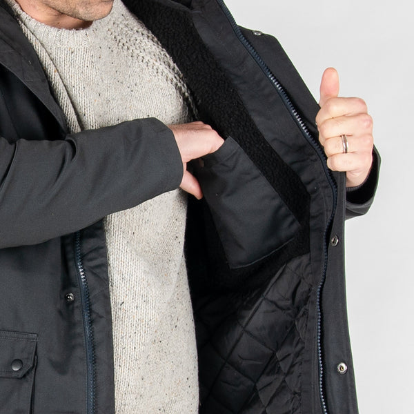 Sycamore Parka Style Jacket - Charcoal
