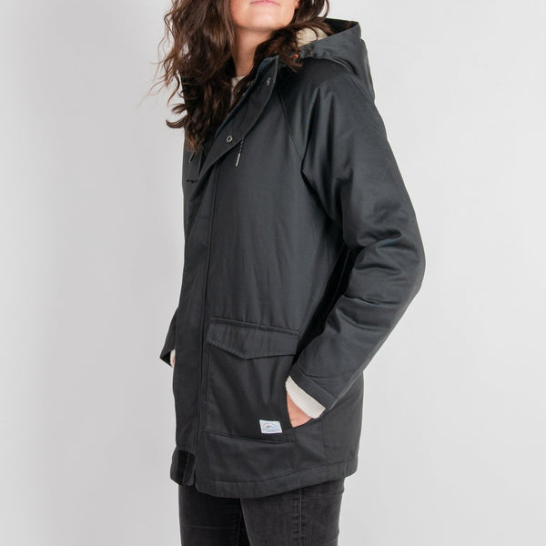 Black Spruce Parka Jacket - Charcoal