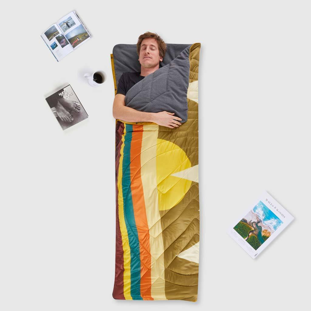 Voited Micro Fleece Lined Pillow Blanket - Camp Vibes image 3