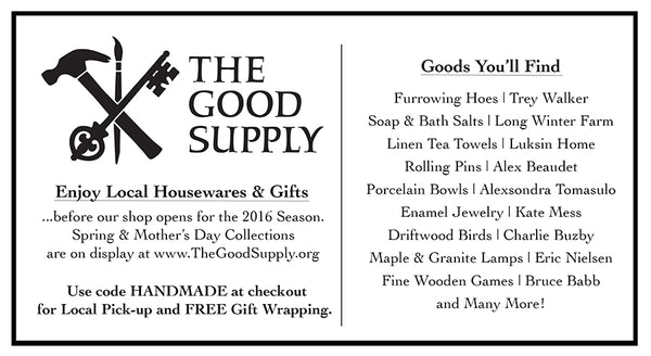 FREE Local Pick-Up and Gift Wrapping Midcoast Maine Handmade Housewares and Gifts
