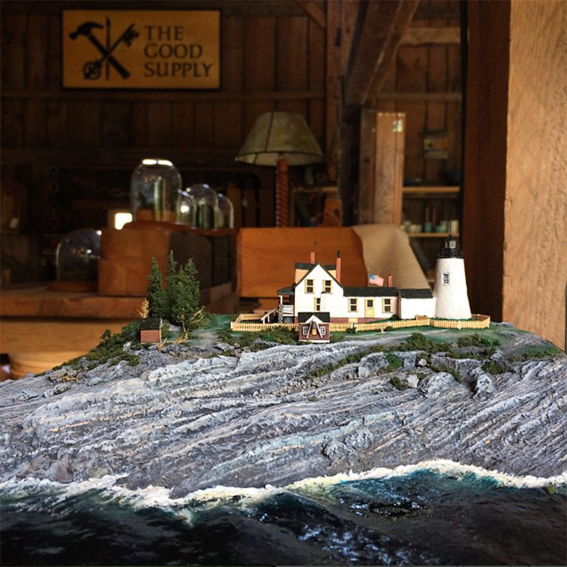 The Good Supply Midcoast Maine Community Events Memorial Day Art Exhibit Ed Strausberg Miniature Pemaquid Point Lighthouse
