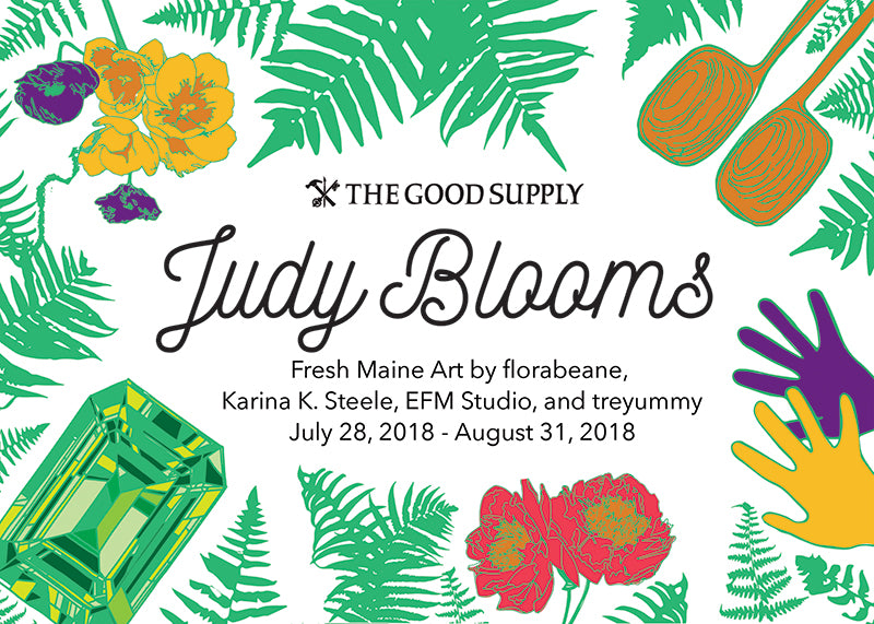 Judy Blooms Art Show at The Good Supply in Pemaquid Maine