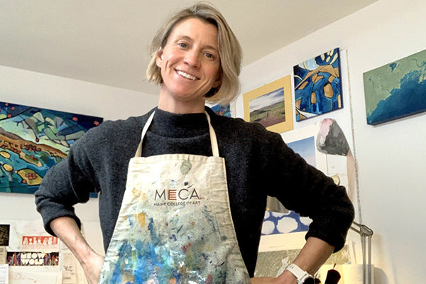 The Good Supply in Pemaquid Maine Map Painting and Monoprints Contemporary Art by MollyMaps Made n USA