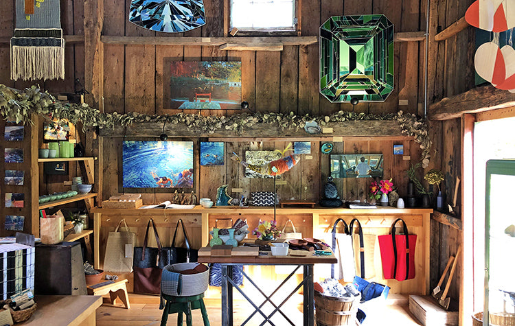 The Good Supply in Pemaquid Maine Midcoast Artisan Store Inside the Barn Interior