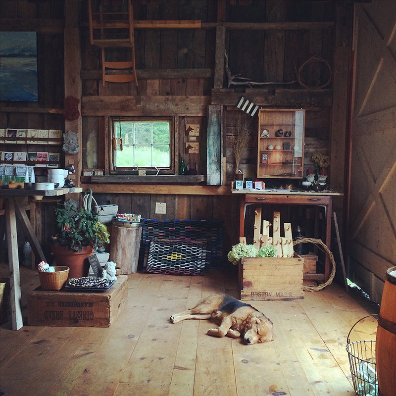 The Good Supply Post and Beam Barn Storefront Midcoast Maine Pemaquid Handmade