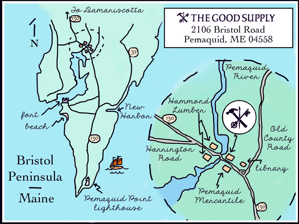The Good Supply Handmade Housewares and Gifts Midcoast Maine Pemaquid Address Directions