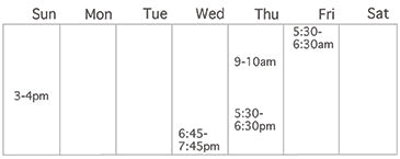 Weekly Yoga Schedule at The Good Supply