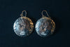 Amanda Coburn Sterling Silver Hammered Dome Dangle Earrings
