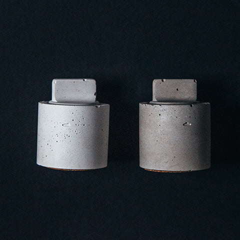 Maine Maker Concrete Culinarium Pair of Modern Salt and Pepper Shakers