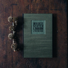 Handbound Whiskey, Scotch, and Bourbon Tasting Book by DSKI Design made in USA