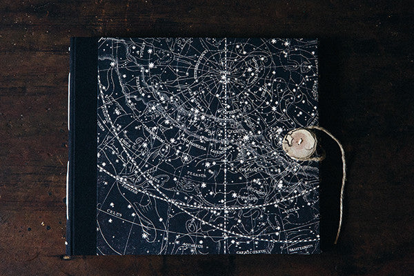 Handbound Photo Album by DSKI Design made in USA Vintage Star Chart