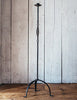 Maine Artist James W. Kearney Handwrought Iron Candle Stand for Floor