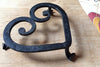 Handwrought Iron Heart Trivet Made in Maine USA by James W. Kearney Great for Traditional Sixth Anniversary Present
