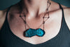 Rusticator Series Necklace by Enamel Artist Kate Mess in Maine USA