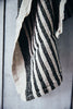 Maine Maker Luksin Organic Linen Tea Towel Black Stripe