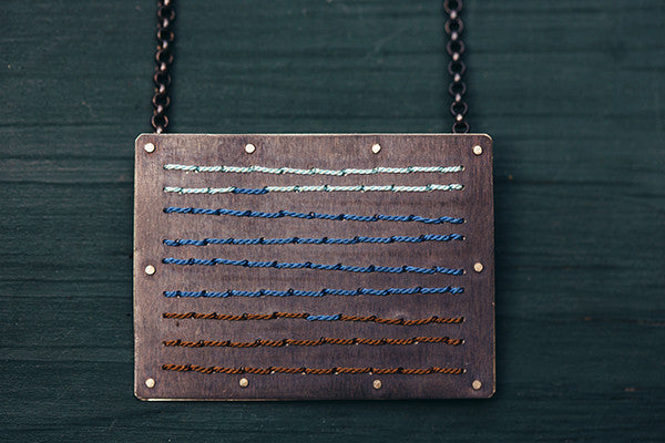 'Stitch Horizon' Necklace