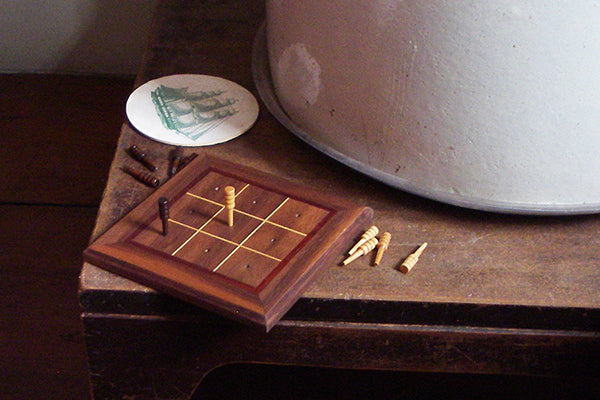 Handmade Wooden Tic Tac Toe board - Marquetry