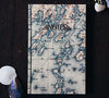 Handbound Blank Pages Travel Notebook by DSKI Design made in USA Bristol Peninsula Maine Nautical Chart