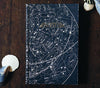 Handbound Blank Pages Travel Notebook by DSKI Design made in USA Vintage Star Chart