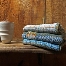 Farm and Hearth Handwoven Kitchen Towels in Organic Cotton and Linen Made in Maine USA