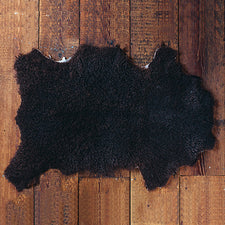 Charcoal Brown Gotland Sheep Pelt from Shepherds Craft Farm in Maine USA
