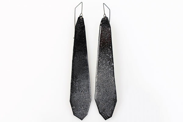 Kate Mess Charred Series Earrings Style No.8 Made in Maine USA