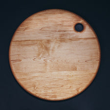 Large Round Maple Serving Board by Alex Beaudet Made in Maine USA Great for Pizza