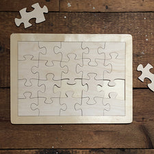 Sustainably Harvested Wood Color Your Own Made by Me Puzzle by Maple Landmark Made in Vermont USA