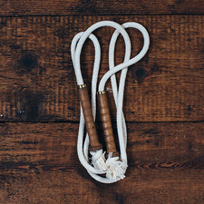 Old Mill Jump Rope with Wood Handles Made in Maine USA by Milling Around